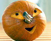 Halloween: amusing pumpkin head