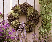 Wreath of lavender and Gypsophila