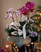 Schale mit Orchideen