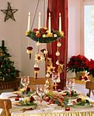 Festliche Tischdeko für Weihnachten