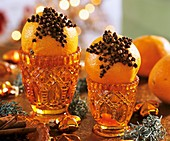 Oranges studded with cloves