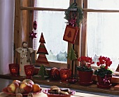 Window-sill with Christmas decorations