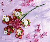 Blume aus Blüten von Tausendschön, Hyazinthen und Salweide