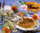 Waffles with lavender sugar