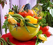 Various types of vegetables in a bowl