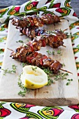 Lamb sosaties (South African lamb skewers)