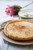 Melktert (South African milk tart)