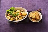 Cauliflower curry with tofu