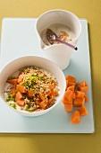 Yoghurt with amaranth and papaya