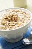 Porridge (Haferflockenbrei) in Schüssel