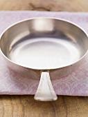 An empty frying pan
