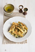 Pasta parcels with Jerusalem artichoke filling
