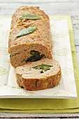 Meatloaf with spinach filling