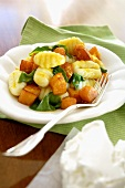 Gnocchi with pumpkin and basil