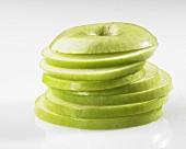 Green apple, sliced