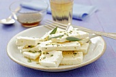 Feta cheese with rosemary and honey