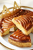 Galette des Rois with paper crown (France)