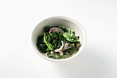 Kale with onions