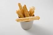 Deep-fried scorzonera