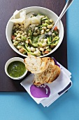 Bean and courgette salad