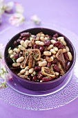 Bean and fig salad