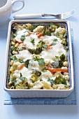 Vegetable bake in baking dish