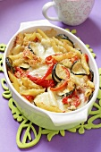 Penne vegetable bake