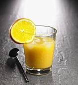 Glass of vodka with orange juice