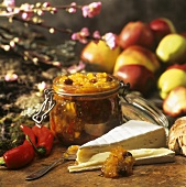 Apple chutney with chillies