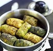 Savoy cabbage leaves stuffed with wild boar & Cassis liqueur