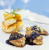 Wild boar steaks with juniper berry sauce