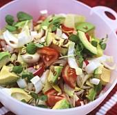 Avocado salad with sunflower seeds