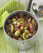 Green fruit compote: kiwi fruit, gooseberries & rhubarb (uncooked)