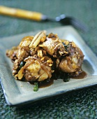Vietnamese chicken dish with lemon grass and peanuts