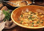 Cuinat de monegetes (Bean soup with lamb, Majorca)
