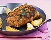 Arrosto di porchetta (Roast suckling pig with onions)