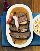 Pirschbraten (Beef with the flavour of venison)