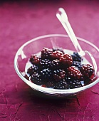 Small bowl of blackberry compote