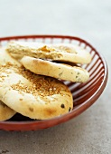 Herb flatbread with sesame seeds and aniseed