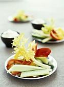 Vegetable sticks for dipping