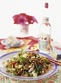 Asian vegetable salad with nuts