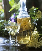 Home-made elderflower wine