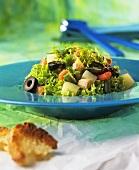 Lollo Biondo with tuna and olives