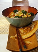 Coconut curry with vegetables