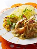 Garnelencurry mit Ananas