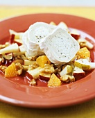 Goat's cheese with fruit salad