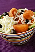 Vegetable salad with sheep's cheese