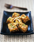 Indonesian tofu with peanut sauce