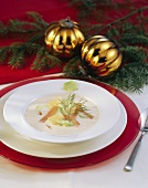 Smoked fish soup with horseradish