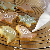 Iced biscuits with names